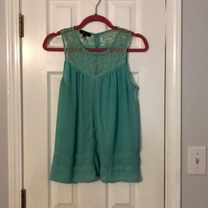 Boutique brand sheer soft green top